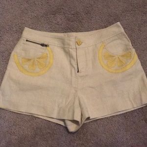 Rebecca Taylor Lemon Shorts